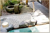 落ち着いた雰囲気の露天風呂